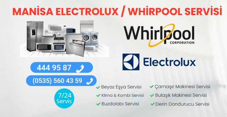 Manisa Electrolux Whirlpool Servisi